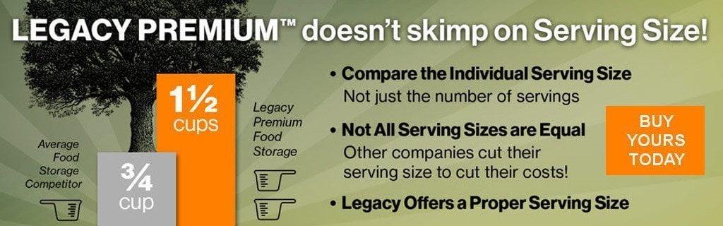 Legacy Banner - Legacy doesn't skimp on serving size