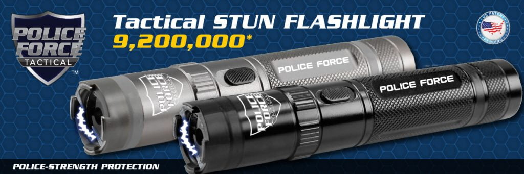 emergency survival self-defense & security Police Force Tactical Stun Flashlight Banner