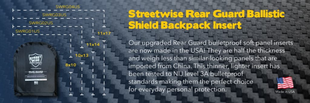 emergency survival self-defense & security Rear Guard Ballistic Shield Banner
