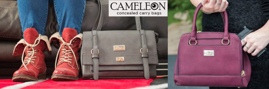 emergency survival self-defense & security Cameleon Concealed Carry Purses Banner