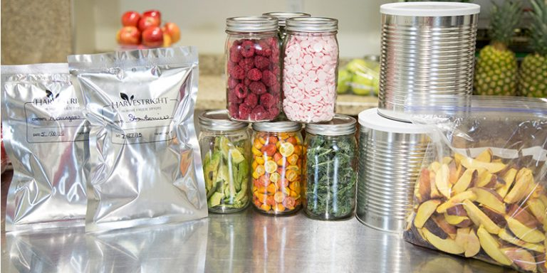 Freeze Dried Food in Containers